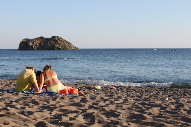 Lesvos women beach